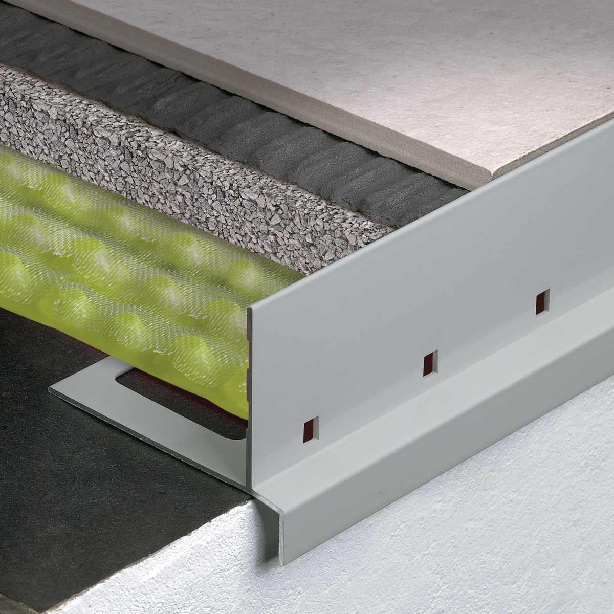 Terrazze Profili per massetti e pavimenti drenanti Profilitec