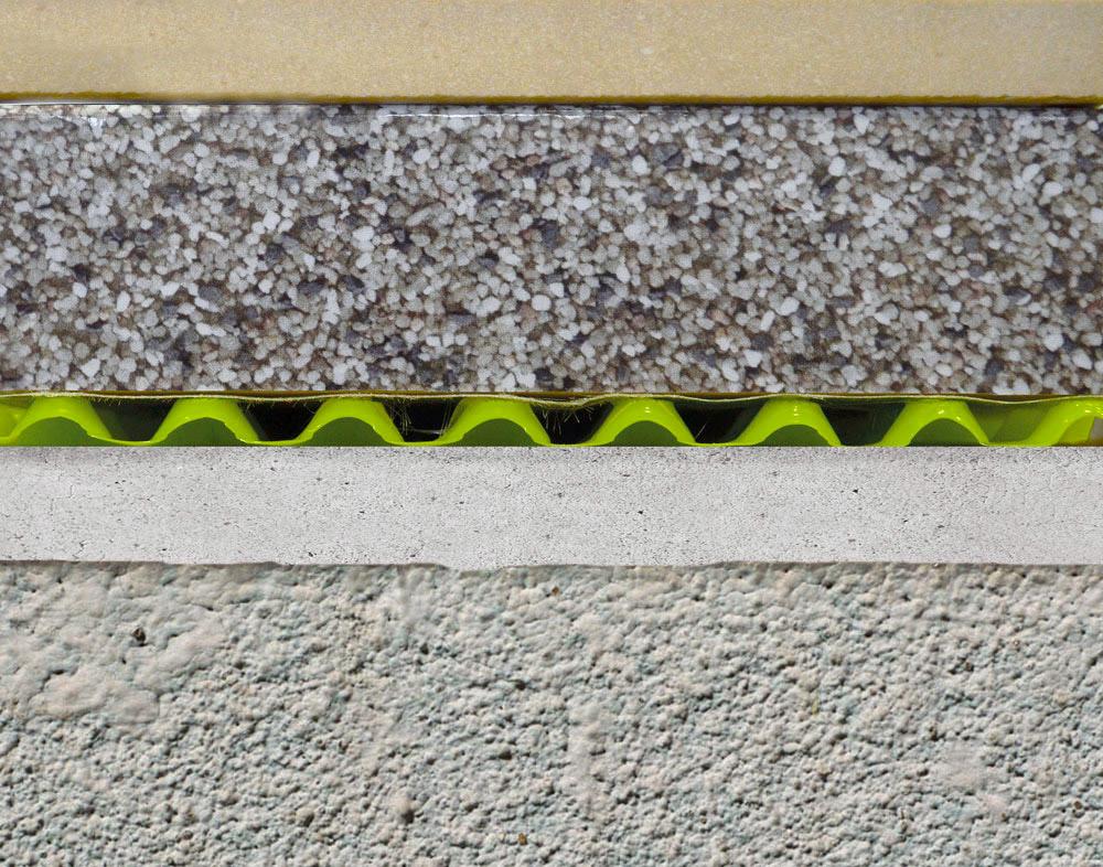 membrana drenante sotto-massetto Draintec 8