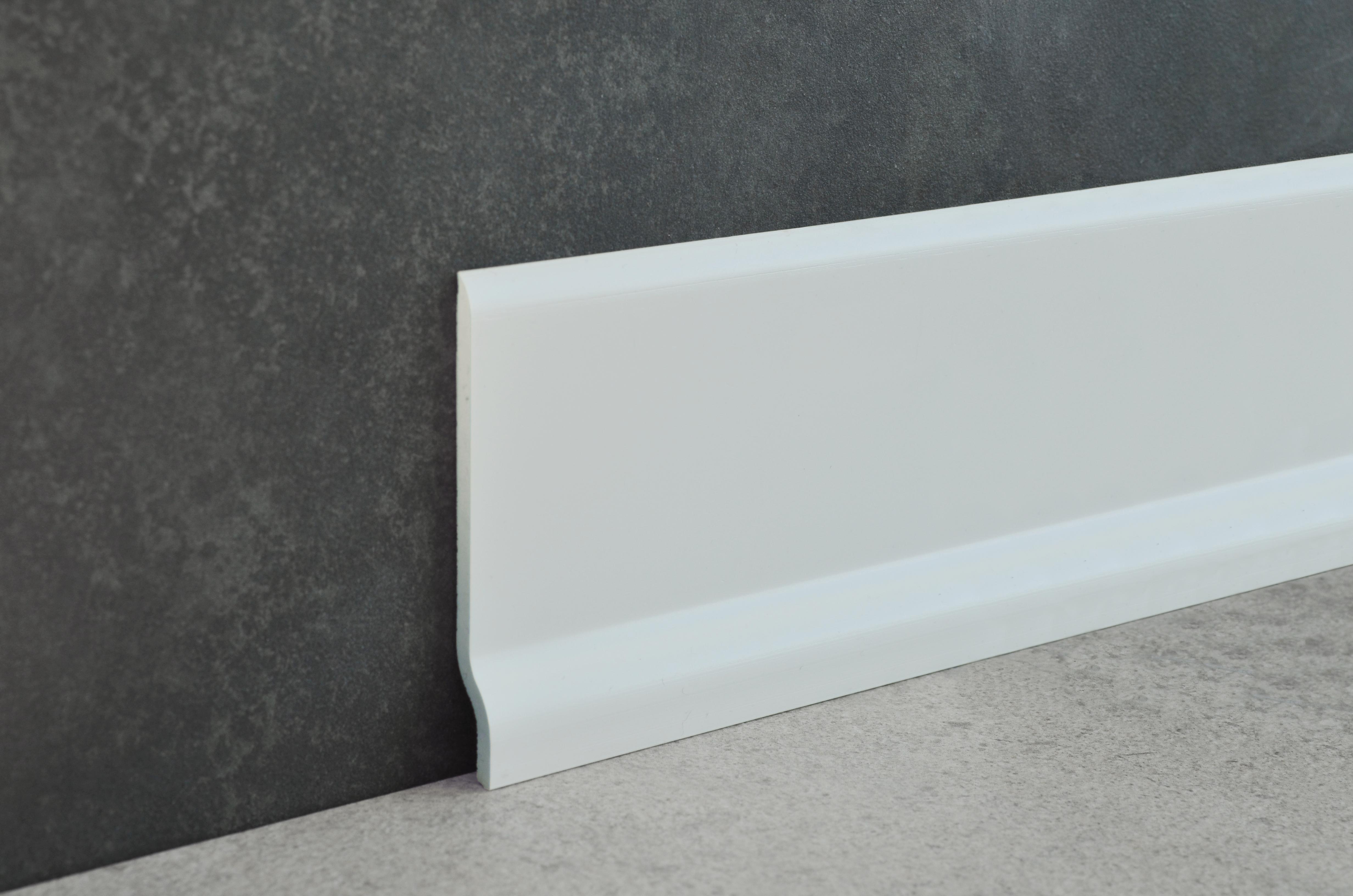 Battiscopa PVC bianco profilitec BA700