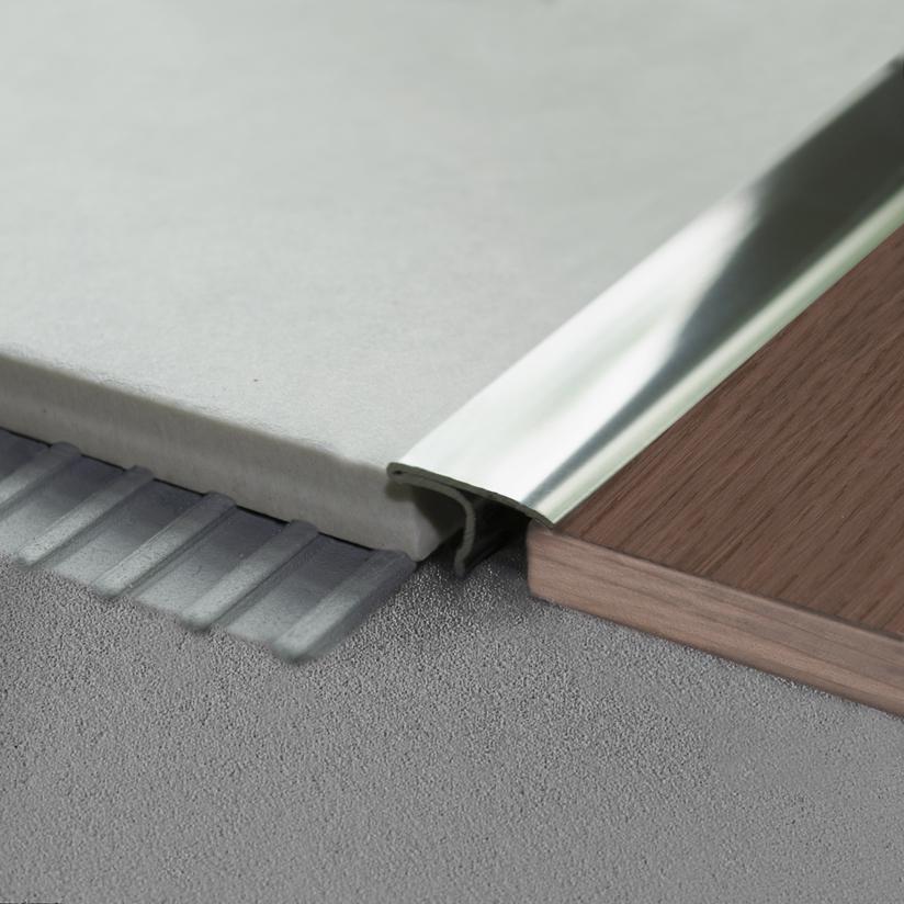 Profilo di raccordo pavimenti Covertec SP in acciaio