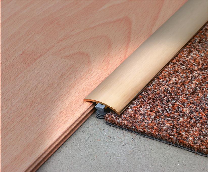 Profilo per posa pavimenti fai da te con sistema di fissaggio Multifix, by Profilitec
