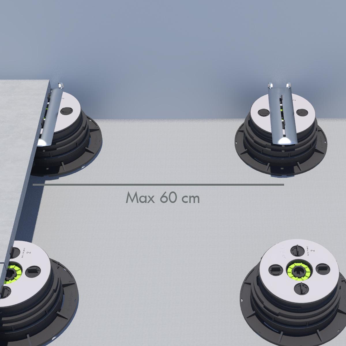 Uptec | Distanza max supporti