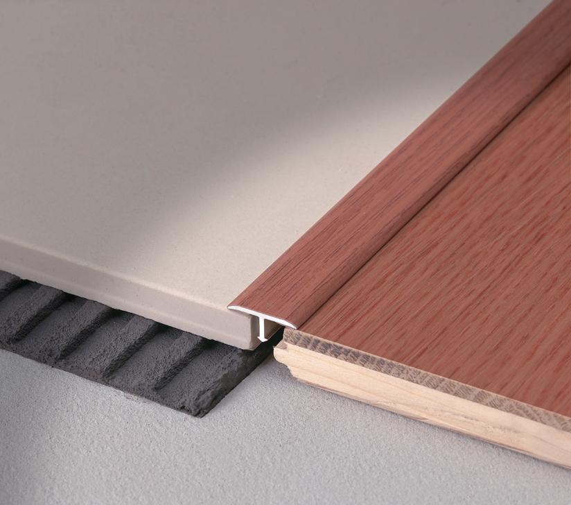 Profilo di raccordo pavimenti della stessa altezza, Covertec SP con finitura effetto legno, ciliegio