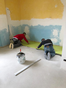 Strato desolidarizzante Floortec | Casa privata a Pescara