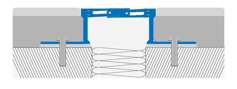 Disegno tecnico in sezione di un giunto strutturale - Jointec GAL
