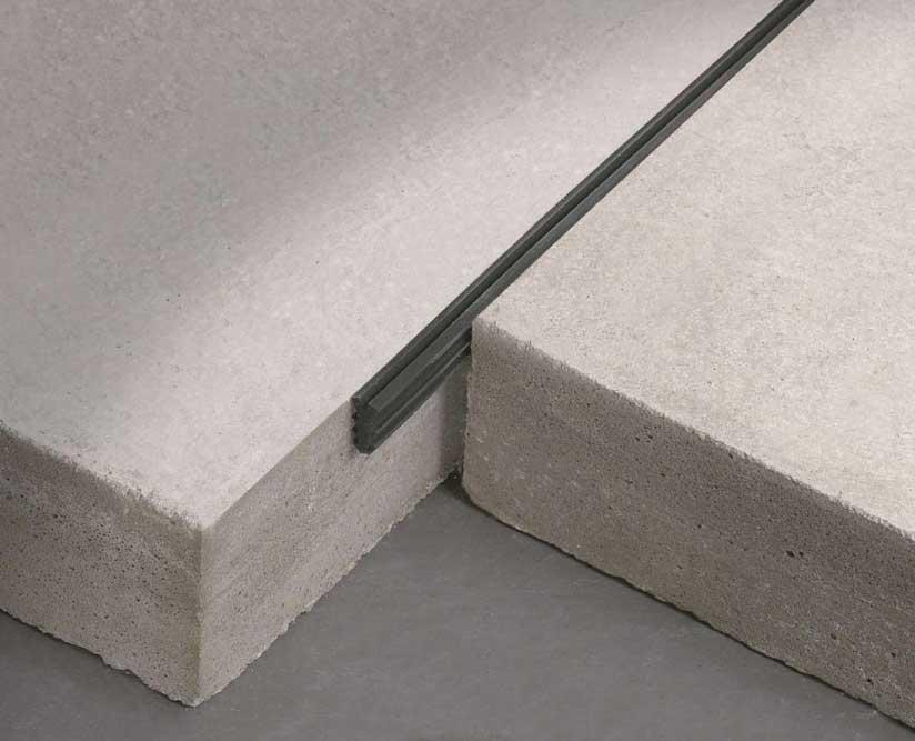 Giunto in gomma Jointec GT per pavimenti industriali